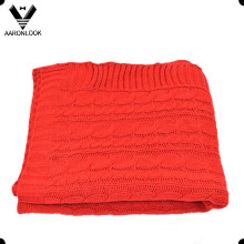 100% Acrylic Solid Color Cable Knit Blanket