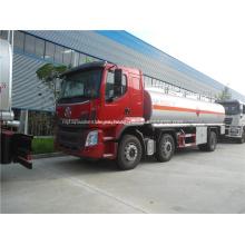 Camión cisterna de acero inoxidable de combustible de 18000 litros