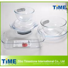 Material de vidrio de alta borosilicato Material de hornear Artículo