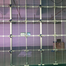 Transparent LED glass wall