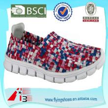 Tecido elástico leve confortável textured menina sapatos