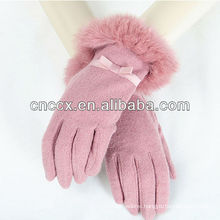 13ST1050 latest design fashion ladies wool touch screen gloves