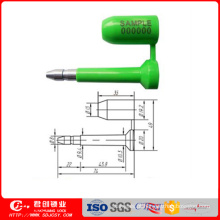 ISO / Dis 17712 e Ctpat Compliant Alta Segurança Unlock Bolt Seal