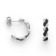 Micro Pave Design 925 Silver Jewelry Plated Earring for Women (KE3003)