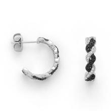 Micro pavimentar design 925 jóias de prata banhado brinco para mulheres (ke3003)