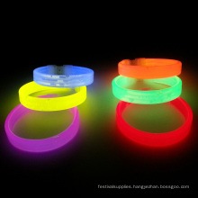 glow filling letters color wristband