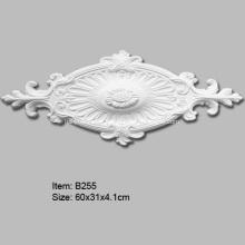 Médaillon de plafond décoratif ovale en polyuréthane