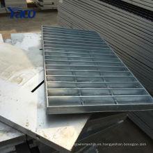 Hengshui fábrica 1.2 * 3 m 1.2 * 2.5 m Q235 inmersión en caliente estructura galvanizada acero rejilla