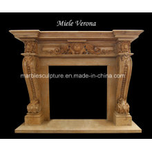 Natural Hand Carved Marble Fireplace (SY-MF228)