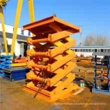 Sjy 1.0-8 Plataforma hidráulica de elevação em tesoura