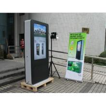 Plancher de 55inch tenant le kiosque d'information d'affichage à cristaux liquides