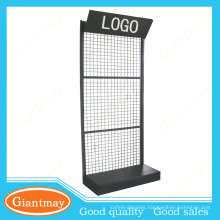 floor standing metal wire display rack for hanging items