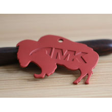 casting technology red elephant metal labels for clothing
