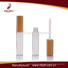 Frasco cosmético do tubo do brilho do bordo, tubo transparente do brilho do bordo vazio, recipientes do lábio do lustro fabricantes