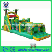 Large inflatable adult / kids jungle obstacle course cheap inflatable running obstacle couse