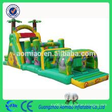 Grande inflável adulto / crianças selva obstáculo curso barato inflável running obstáculo couse