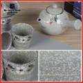 2015 new design Ceramic teapot with handpainted flower