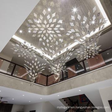Simple customized chandelier pendant light
