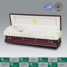 Sarg Hersteller LUXES chinesischen Design Sarg Langlebigkeit-Kran geschnitzte Schatulle