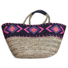Beach Bag, Made of Straw/Paper Straw, Customized Designs and Materials are Accepted