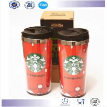 Novos produtos dupla parede 16 onças caneca caneca Tumbler café Starbucks café