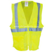 Unisex Lime Green High-Visibility Safety Vest
