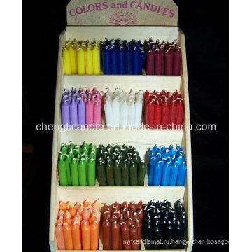Чисто воск парафина Цвет ручки свечки для домашнего использования