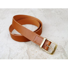Custom Bridle Leather Belt with brass buckle belt brown