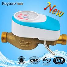 Medidor de agua AMR con control remoto de válvula con cable (azul claro)