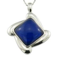 Pendentif en pierre modifiable bleu marine