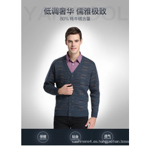 Suéter de manga larga con cuello en V de lana y cachemira Yak / Suéteres / Ropa / Ropa