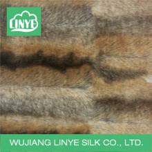 Invierno caliente faux fox piel de tela para tirar mantas