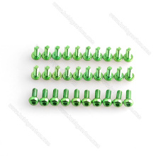 M3 Vis en aluminium vert et écrous de blocage, vis et rondelle