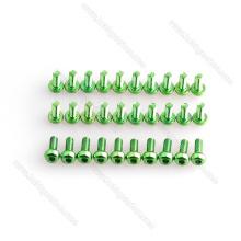 M3 Parafusos de Alumínio Verde e Porcas de Bloqueio, Parafuso e Arruela