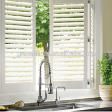 wooden plantation shutter for window