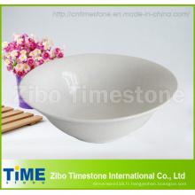 Ensemble de 4 tasses à soupe en porcelaine blanche de 4 po x 7 po