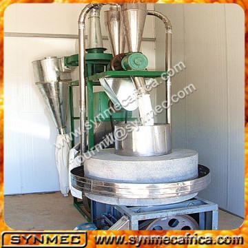 farinha de arroz que faz a máquina, moinho de pedra usado, moinho de pedra do trigo