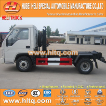 FOTON FORLAND 4.5 cbm 4X2 98hp pulling arm garbage truck best price hot sale in China
