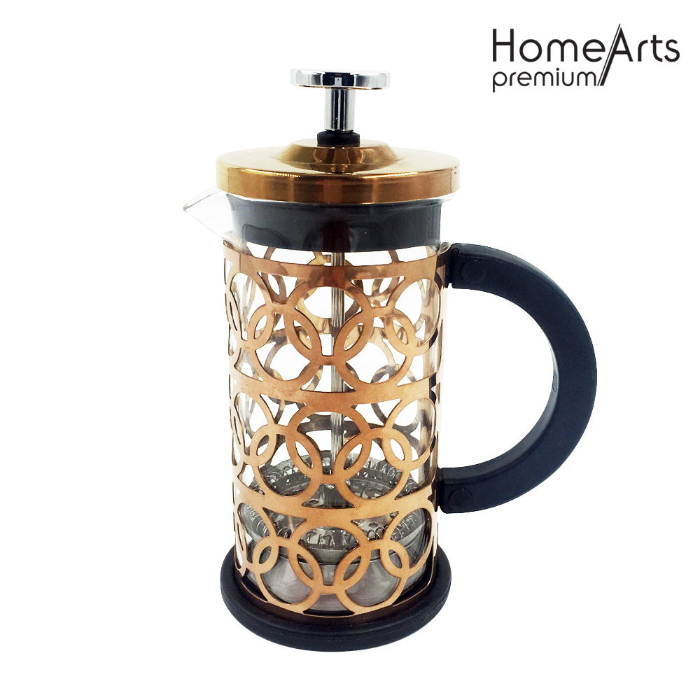 Kupfer-Beschichtungsglas French Press
