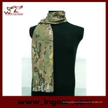 Airsoft táctico ejército lienzo ligero camuflaje bufanda mascarilla velo