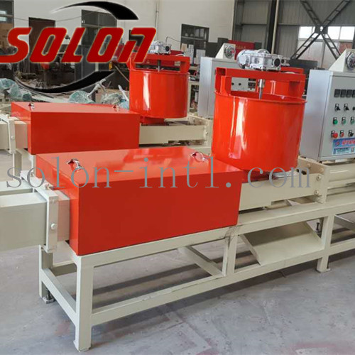 Wood sawdust glue mixer for wood pallet production