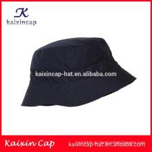 Oem personalizado / blanco negro / material de lona / ala corta / sombrero de cubo