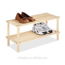 Support d'affichage de chaussure en bois de vente chaude