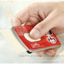 Titular de cartão de visita de aço inoxidável de alta qualidade, titular de cartão de nome empurrado