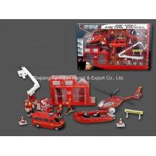 Ensemble de jeu de voiture Die Cast Metal Set Set de jeu Toy-P / B Firefighting