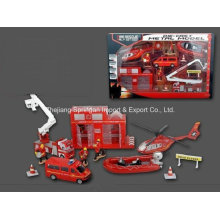 Die Cast Metal Car Play Set Toy-P/B Firefighting Play Set