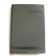 Carnet gris personnalisé, bloc-notes à feuilles mobiles pour bureau