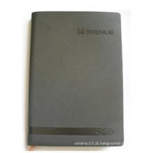 Capa cinzenta notebook personalizado, caderno de folhas soltas para escritório