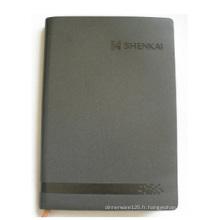 Cahier personnalisé par couverture grise, carnet de feuilles mobiles pour le bureau