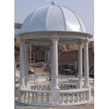 Mármol de piedra jardín Gazebo tienda para muebles de jardín al aire libre (gr064)